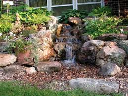 Backyard Water Fountain by Best 25 Outdoor Waterfalls Ideas On Pinterest Backyard Water