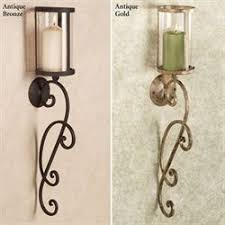 Hurricane Candle Wall Sconces Pillar Candle Wall Sconces And Candleholders Touch Of Class