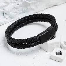 mens jewelry leather bracelet images Mcllroy leather bracelet men double layer braided leather bracelet jpg