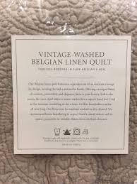 hardware vintage washed belgian linen quilt king pillow sham dune