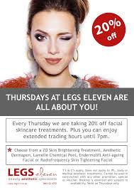 december promotions at legs eleven save up to 30 on skin care