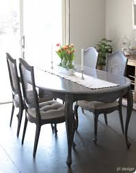 gray dining room table painted furniture how to make over a dining room table with a gray