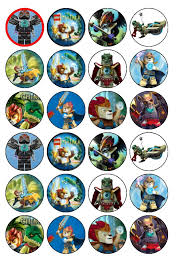 24 x lego chima wafer paper cup cake tops