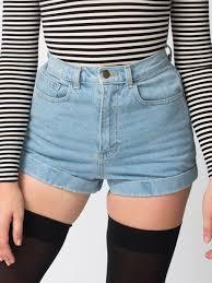 High Waisted Colored Jeans American Apparel Medium Wash High Waist Jean Cuff Short Un