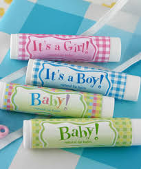 baby shower favors lip balm favors unique favors baby shower favors