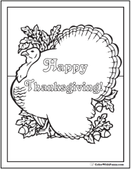 Funny Thanksgiving Coloring Pages Funny Turkey Coloring Page
