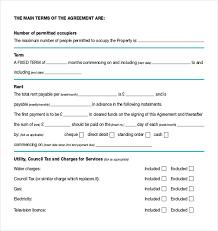 rental agreement templates u2013 17 free word pdf documents download