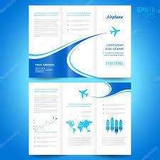 brochure design template tri fold airplane flight line takeoff