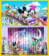 Minnie Mouse Bowtique Curtains 3d Cartoon Mickey Minnie Mouse Pattern Blackout Curtain Custom
