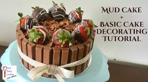 how to decorate a cake mud cake recipe youtube