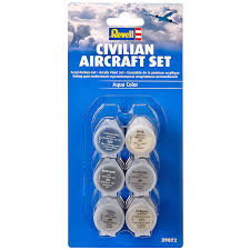 civilian aircraft acrylic paint set from revell wwsm