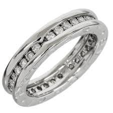 bvlgari diamonds rings images Bvlgari white b zero1 gold 0 50ct diamond eternity band ring tradesy jpg