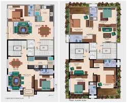 Bungalows Floor Plans by Twin Bungalow Floor Plans In India