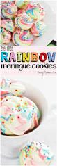 egg free rainbow meringue cookies vegan