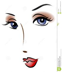 beautiful woman cartoon face royalty free stock photos image