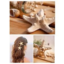 starfish hair clip pretty diy starfish hair clip for women beige