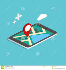 Paper Maps Flat 3d Isometric Mobile Navigation Maps Infographic Paper Map