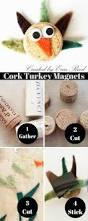 scraps of reflection easy felt u0026 cork turkey magnets kids craft