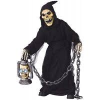 Grim Reaper Halloween Costumes Kids Pumpkin Head Grim Reaper Scary Halloween Costume Ebay