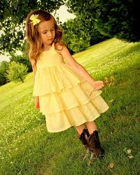 yellow eyelet flower dress girls easter dress girls yellow