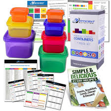 amazon com 21 day efficient nutrition portion control containers