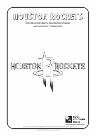 houston rockets u2013 nba basketball teams logos coloring pages cool