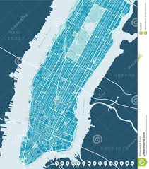 New York Map Manhattan by New York Map Lower And Mid Manhattan Stock Vector Image 63906239