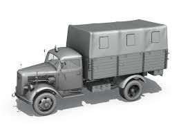 opel truck ww2 3d opel blitz 3t cargo truck cgtrader