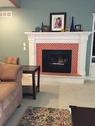 Paint Tile Fireplace by Arabesque Tile On Fireplace New House Build Pinterest