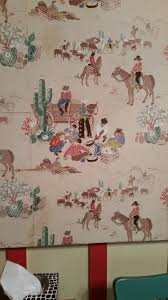 my summer vacation part i bs all day vintage cowboy wallpaper in the other two bedrooms