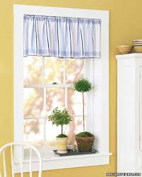 Making A Window Valance Handkerchief Valance Martha Stewart