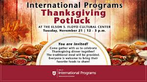 thanksgiving potluck office of international programs washington