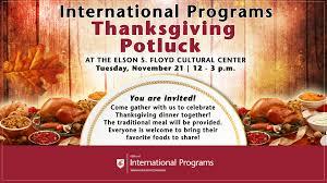 thanksgiving potluck office of international programs