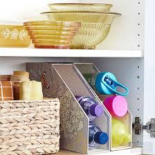 cheap kitchen storage ideas kitchen items that store more magazine files water bottles and