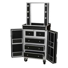 portable hair and makeup stations presdual sided studio makeup station w lights mirror wheels
