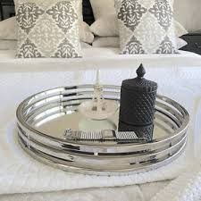 silver mirrored coffee table xlarge round silver tray mirror coffee table tray bedroom hton s