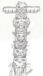 drawn totem pole monkey pencil and in color drawn totem pole monkey