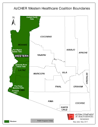 Yuma Az Map Adhs Public Health Emergency Preparedness Arizona Healthcare