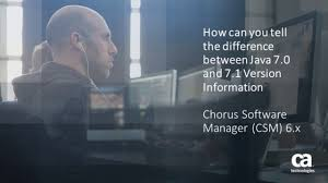 ca chorus software manager identifying java release 7 0 from