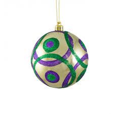 100mm glitter circles ornament mardi gras xh935558