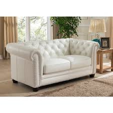 White Leather Chesterfield Sofa Nashville White Genuine Leather Chesterfield Sofa With Feather