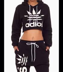 adidas crop top sweater adios 2 set 1day sale