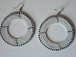 hoop beaded earrings maasai beaded hoop earrings beaded ea discovered