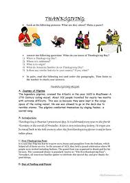 thanksgiving day worksheet free esl printable worksheets made by