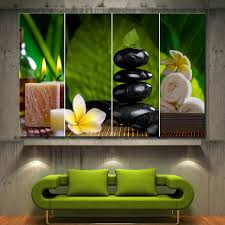 Zen Home Decor by 1 Piece Flowers Candle Zen Spa Collage Decor Wall Art Canvas