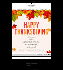 kate spade email marketing thanksgiving card nov 2013
