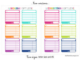 clean life and home freebie christmas u0026 holiday gift planner