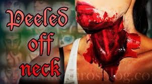 halloween fx makeup neck peeled off silvia quiros youtube