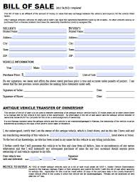bill of sale template car free kansas dmv vehicle bill of sale tr 12 form pdf word