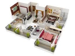floor plan 3d u2013 modern house